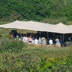 Primakamp Tentenverhuur 6x16 m. stretchtent