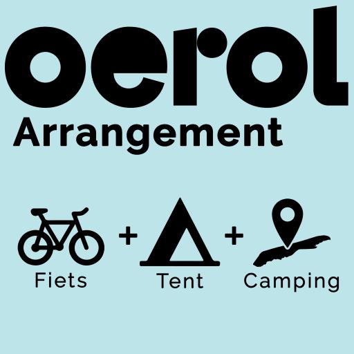 Fiets + Tent + Camping = Kampeer arrangement Oerol